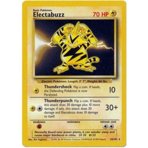 Trading Card - Electabuzz 20/102 - Rare - Base Set