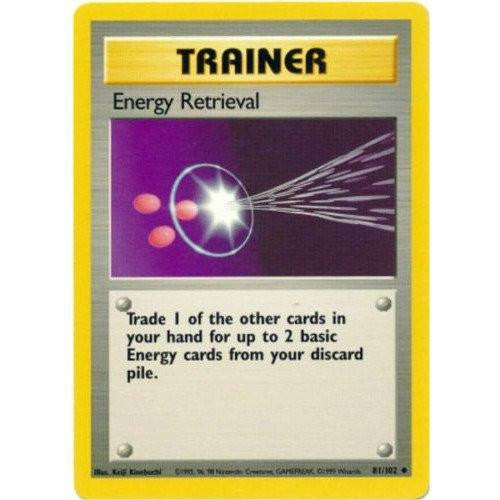 Trading Card - Energy Retrieval 81/102 - Uncommon - Base Set