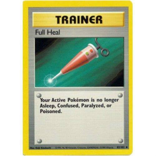Trading Card - Full Heal 82/102 - Uncommon - Base Set
