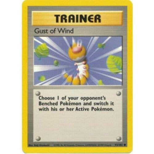 Trading Card - Gust Of Wind 93/102 - Common - Base Set