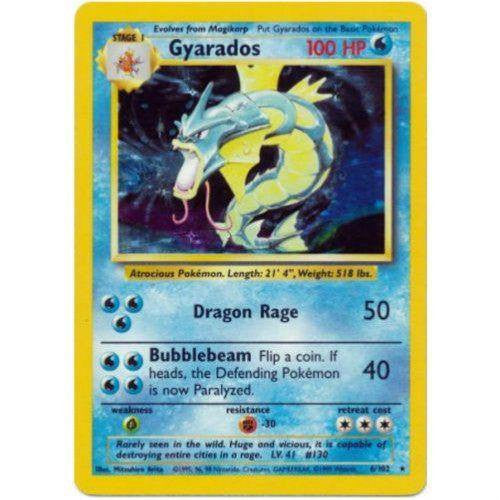 Trading Card - Gyarados 6/102 - Holo Rare - Base Set