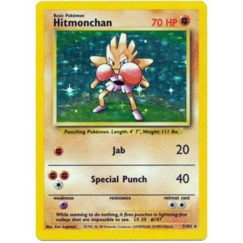 Trading Card - Hitmonchan 7/102 - Holo Rare - Base Set