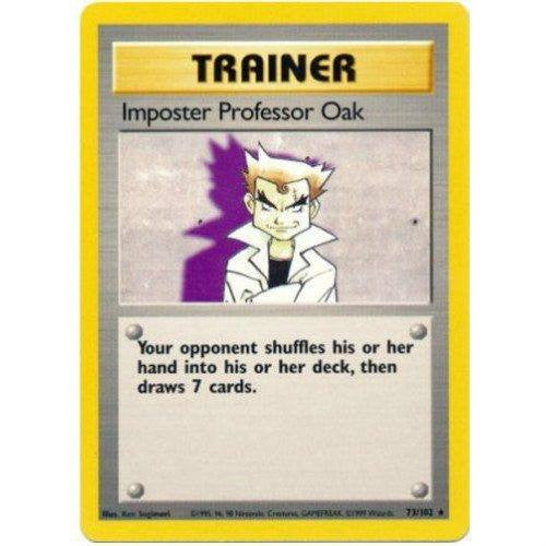 Trading Card - Imposter Professor Oak 73/102 - Rare - Base Set