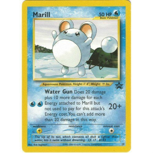 Trading Card - Marill 29 - Black Star Promo