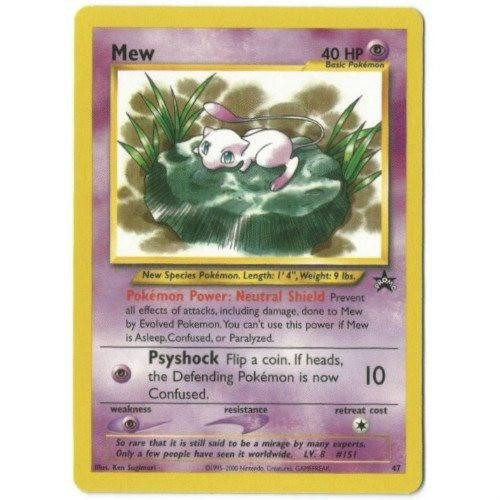 Trading Card - Mew 47 - Black Star Promo