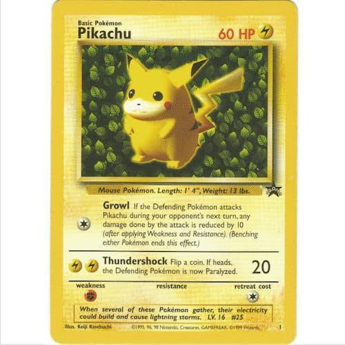 Trading Card - Pikachu 1 - Black Star Promo