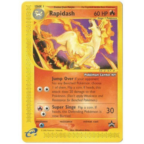 Trading Card - Rapidash 51 - Black Star Promo