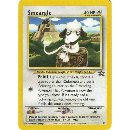 Trading Card - Smeargle 32 - Black Star Promo