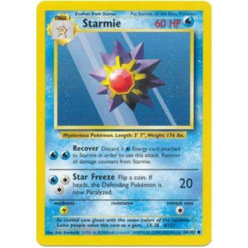 Trading Card - Starmie 64/102 - Common - Base Set