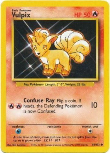 Trading Card - Vulpix 68/102 - Common - Base Set