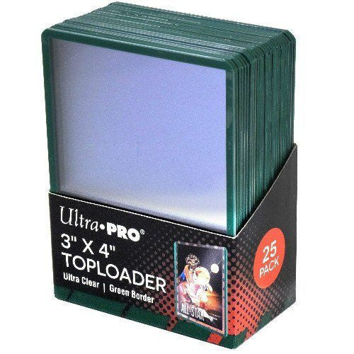 Ultra Pro Regular Green Border Toploader (25)