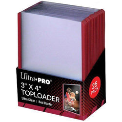 Ultra Pro Regular Red Border Toploader (25)