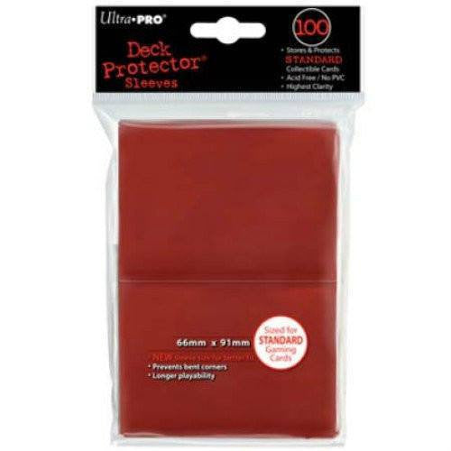 Ultra Pro Standard Deck Protectors (100 Red)