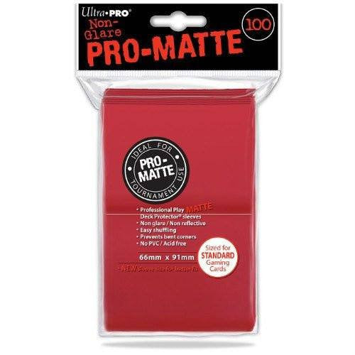 Ultra Pro Standard Pro-Matte Deck Protectors (100 Red)