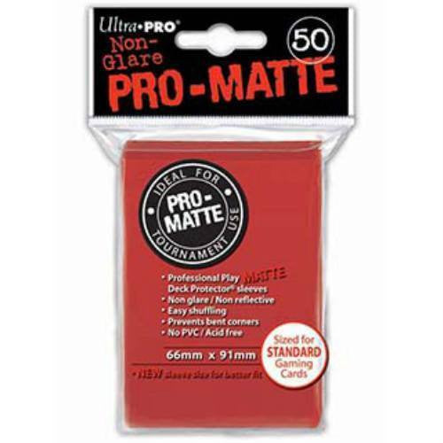Ultra Pro Standard Pro-Matte Deck Protectors (50 Red)