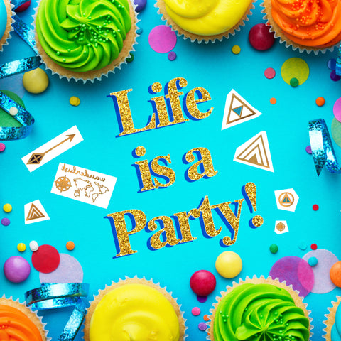 lustria life is a party graphic