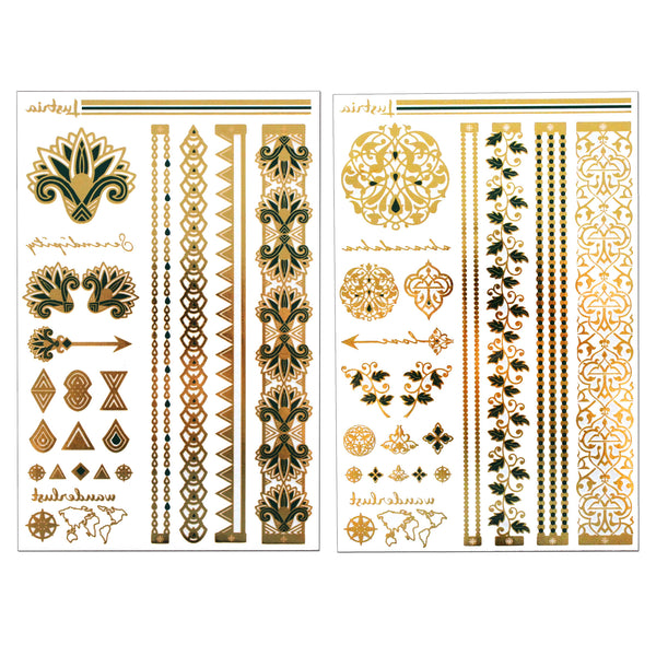 Emerald Luxe - 2 Sheets - Lustria Tats