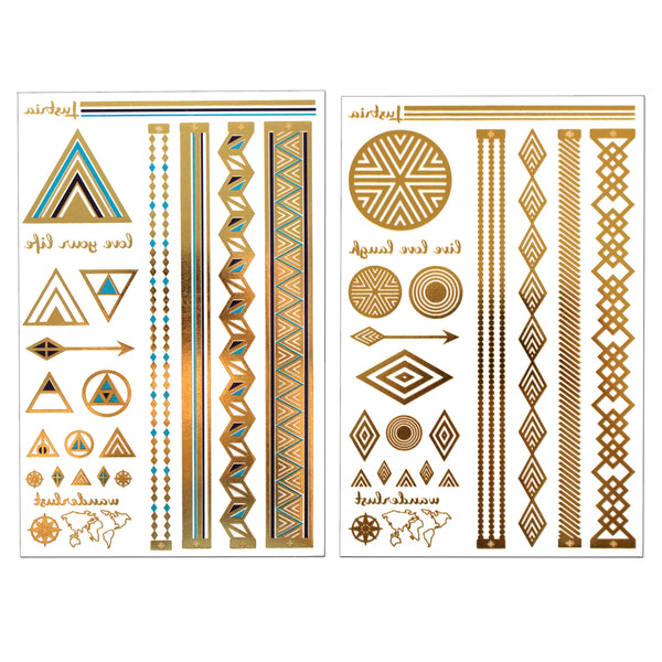 New York Glam - 2 Sheets - Lustria Tats