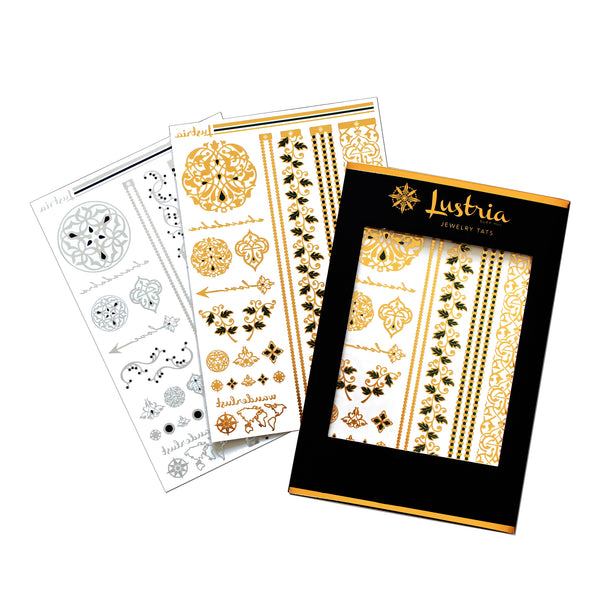 Arabesque Garden - 2 Sheets - Lustria Tats