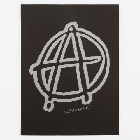Anarchic A Logo Mounted Screen Print