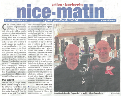 Article du Nice Matin