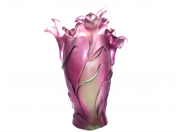 Vase sculpture: Purple Flower.