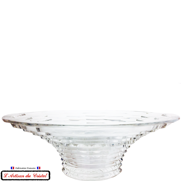 "Coupe en Cristal Centre de Table Collection Art Deco ""Rock'n Roll"" Maison Klein 54120 Baccarat France"