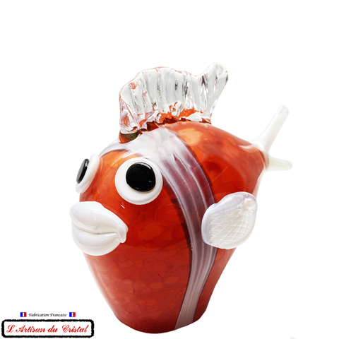 "Sculpture Collection Animals ""Mr Bubble Fish"" en Cristal Maison Klein 54120 Baccarat France"