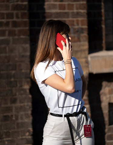 MBFWA MAISON de SABRE Staff Pomegranate Red iPhone X