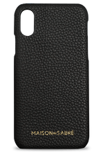 iphone x/xs phone case- black- front