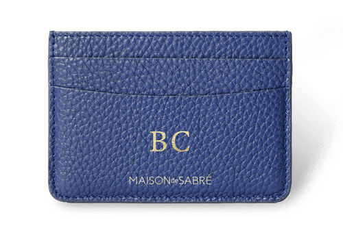 Lapis Blue Card Holder