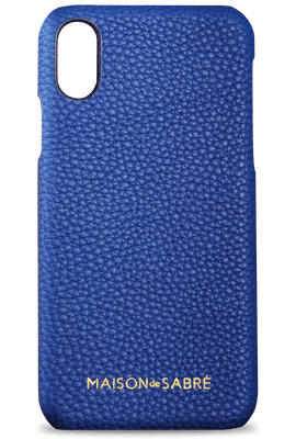 iphone x/xs phone case- blue- front
