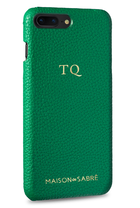 iphone 7/8 plus phone case- green- perspective