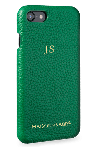 iphone 7/8 phone case- green- perspective