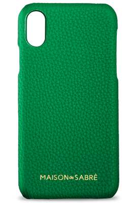iphone x/xs phone case- green- front