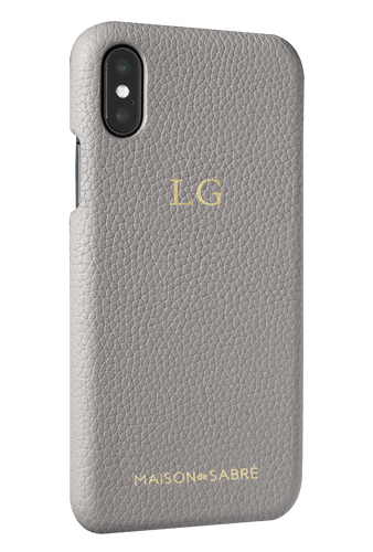 iphone x/xs phone case- grey- perspective