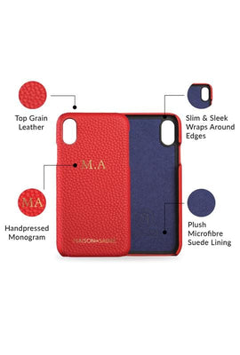iphone xr phone case- red- product features