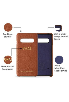 samsung s10 phone case- brown- product features