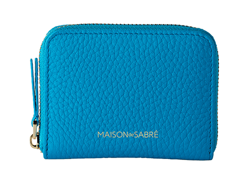Electric Blue Zipped Wallet