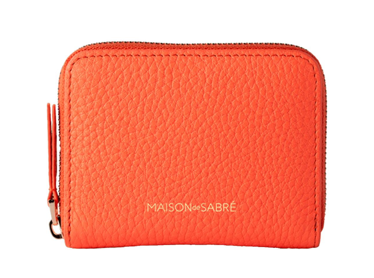 Acid Orange Zipped Wallet