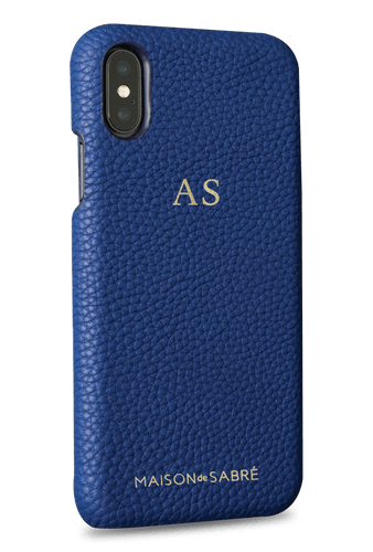 iphone x/xs phone case- blue- perspective