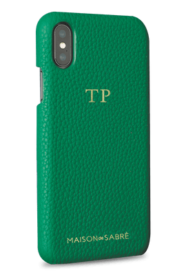 iphone x/xs phone case- green- perspective