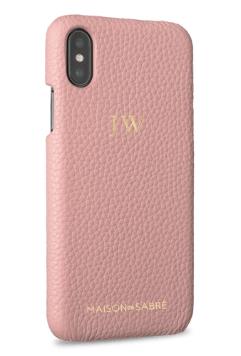 iphone x/xs phone case- pink- perspective
