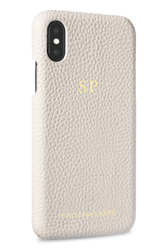 iphone x/xs phone case- white- perspective