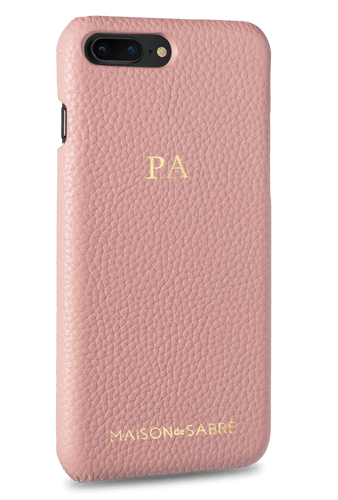 iphone 7/8 plus phone case- pink- perspective
