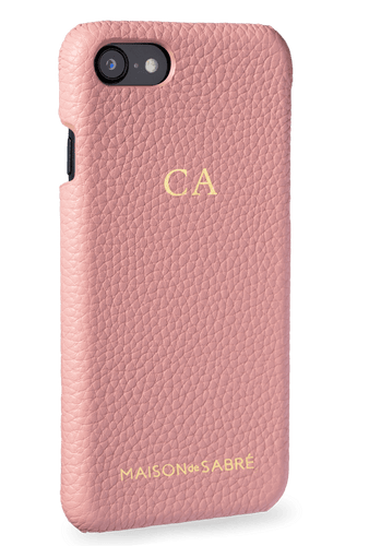 iphone 7/8 phone case- pink- perspective