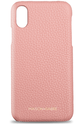 iphone xs max phone case- pink- front