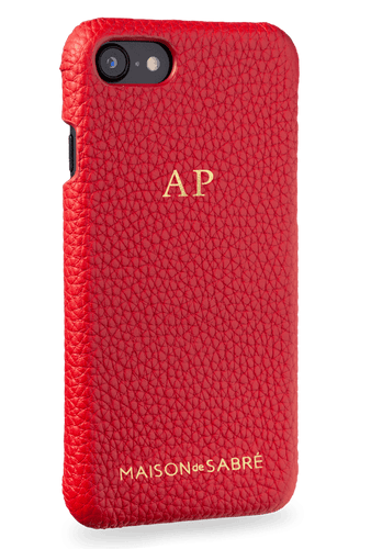 iphone 7/8 phone case- red- perspective