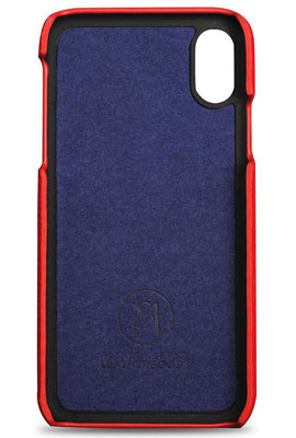 iphone xr phone case- red- inside