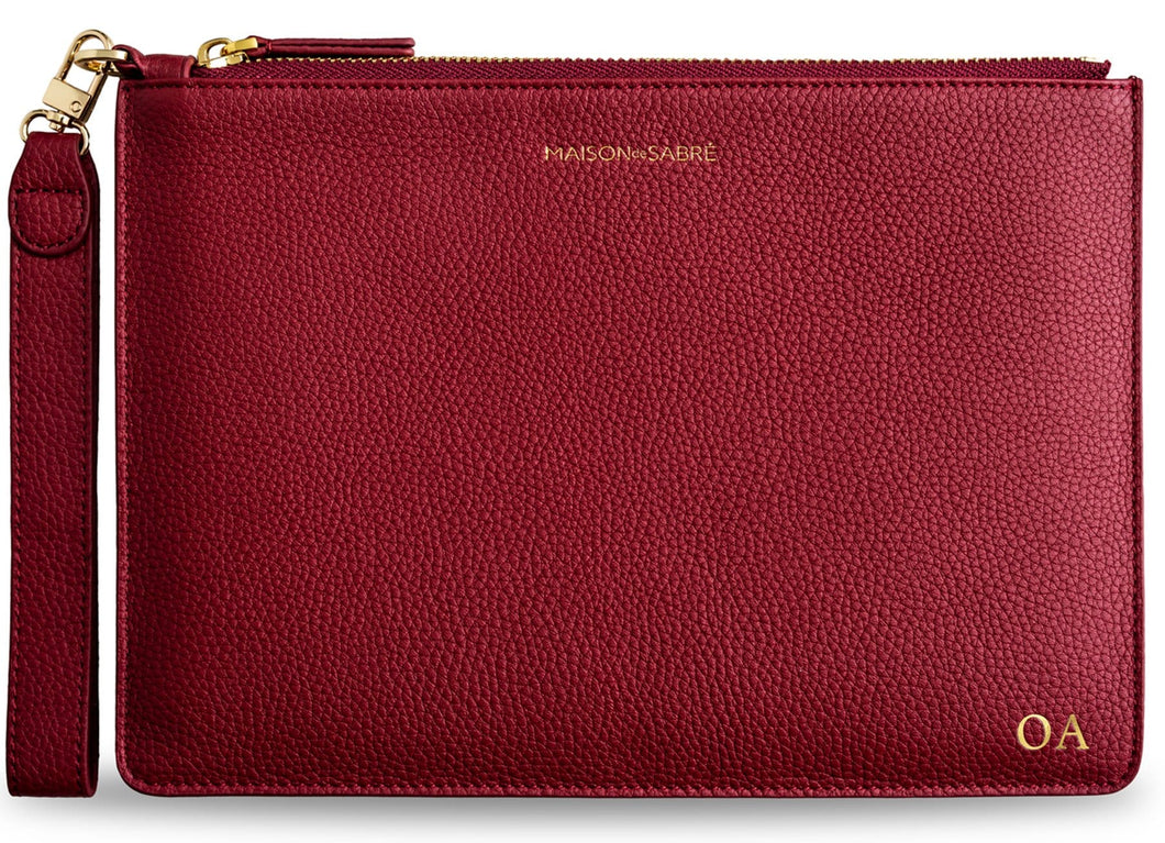 Vino Red Clutch